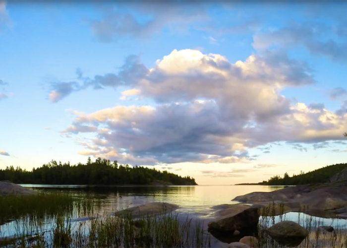 Закат на острове Кухка