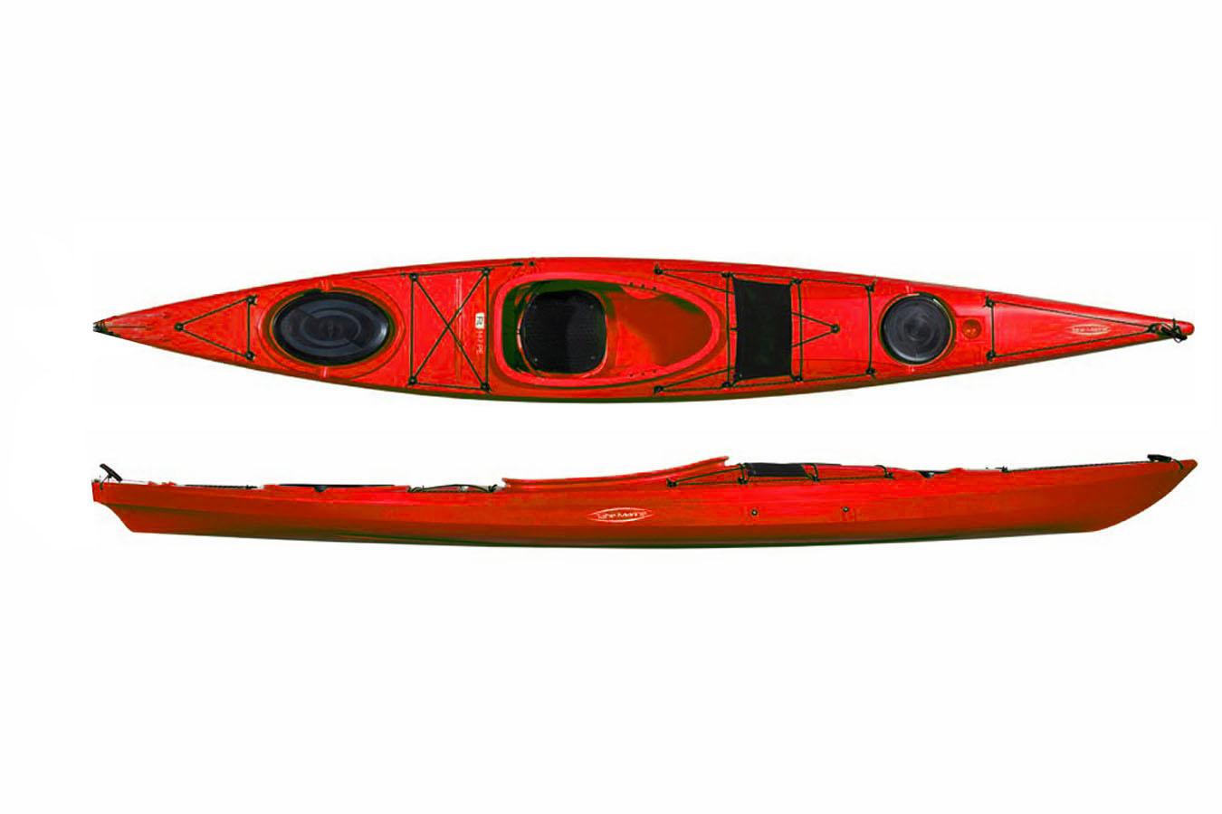 Каяк морской FIT 147 красный без руля
