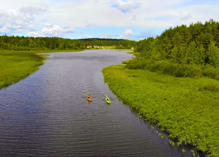 Поход на морских каяках по Ладожскому озеру