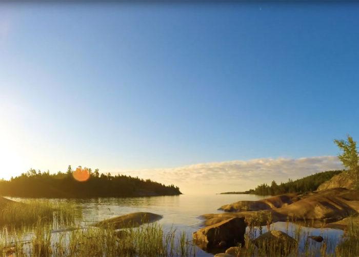 Восход на острове Кухка
