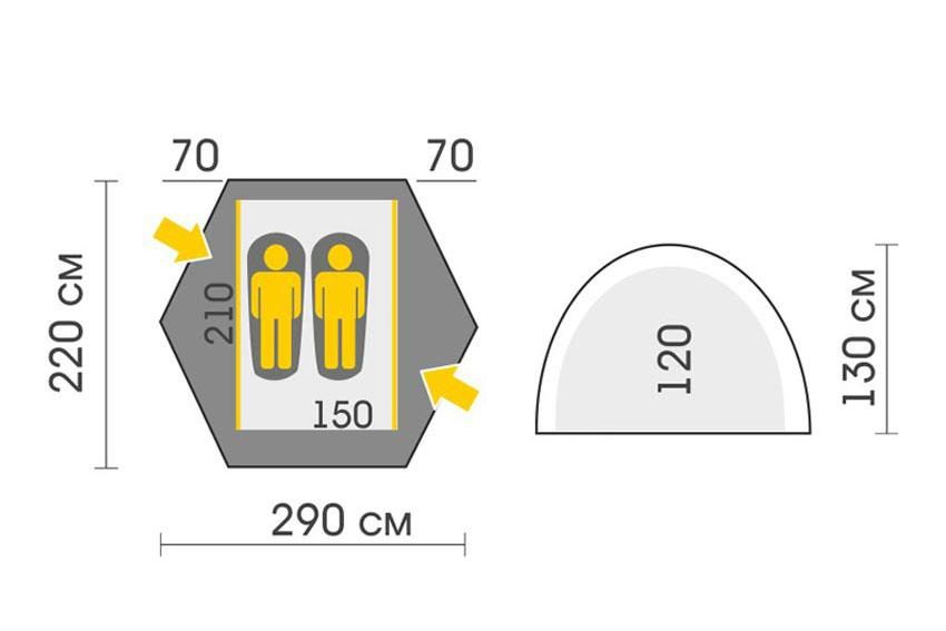 Talberg Space Pro 2 Classic Tent (Scheme)