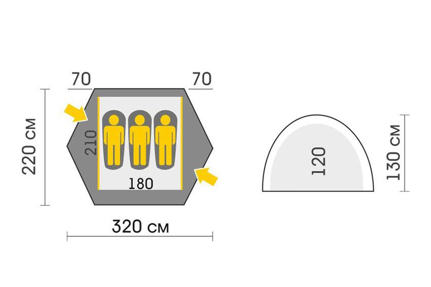 Talberg Space Pro 3 Classic Tent (Scheme)